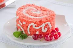 Бархат красного цвета торта Стоковая Фотография RF