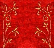 бархат текстуры тканья предпосылки красный Стоковые Изображения RF