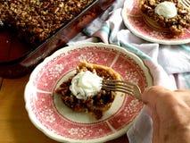 Бары пирога с орехами Стоковое Изображение