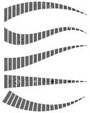 Бары прямоугольников с различными искажениями Абстрактные элементы Стоковое Изображение RF