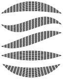 Бары прямоугольников с различными искажениями Абстрактные элементы Стоковое Фото