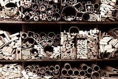 Бары, трубки различных размеров и формы Стоковая Фотография RF