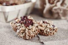 Бары хлопьев, семена подсолнуха, хрупкое арахиса стоковое изображение