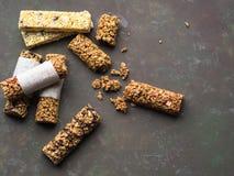 Бары энергии еда здоровая Стоковая Фотография RF