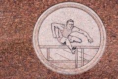Барьеры Джима Thorpe тягчайшие Engavings стоковое фото rf