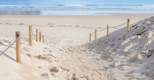 Барьер входа к пляжу Стоковое Фото