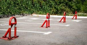 Барьер места парковки стоковое фото rf