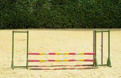 Барьер на лошади на беговой дорожке Стоковые Изображения RF