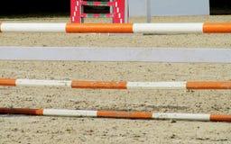 Барьер на лошади на трассе Стоковая Фотография