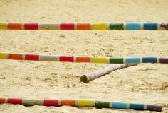 Барьер на лошади на трассе Стоковые Фото