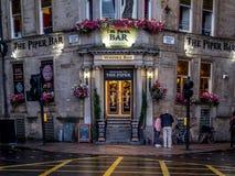Бар волынщика в Глазго, Шотландии Стоковые Изображения