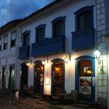 Бар в Paraty, колониальном городке в Бразилии Стоковое фото RF