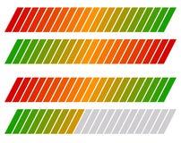 Бар загрузки, на уровне прогресс индикатор с таблицей расцветки иллюстрация вектора