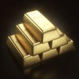 Бар золота 1000 граммов Стоковое Фото