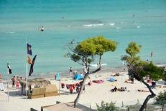 Бар и пляж Iberostar Alcudia паркуют в Alcudia Стоковая Фотография RF