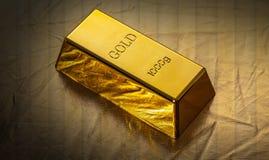 Бар конца-вверх золота стоковое изображение