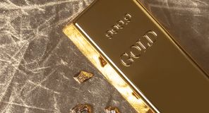 Бар конца-вверх золота стоковые изображения rf