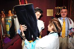 Бар-мицва - еврейский ритуал освоения Стоковые Фотографии RF