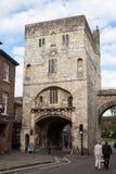 Бар монаха, стены города Йорка стоковое фото rf