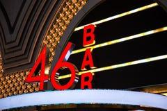 Бар 46 на улице Fremont, Лас-Вегас, Неваде Стоковые Изображения RF