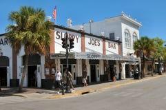Бар небрежного Джо в Key West Флориде Стоковое фото RF