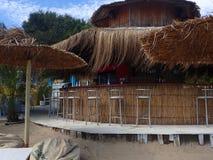 Бар пляжа на Obzor, Болгарии стоковое фото rf