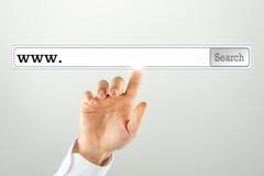 Бар поиска на виртуальном экране компьютера Стоковая Фотография RF
