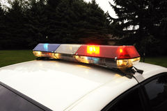 Бар полиции светлый Стоковые Фото