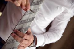 Бар связи галстука закрепленный дальше Стоковые Изображения RF