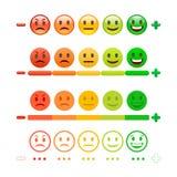 Бар смайлика обратной связи Обратная связь Emoji Стоковое Изображение RF