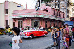 Бар El Floridita в Гаване, Кубе Стоковые Изображения RF