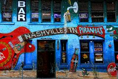 Бар ` s Piranha Нашвилла Tn и настенная роспись гриля Стоковое Изображение RF