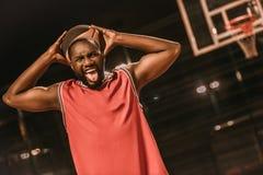 Баскетболист американца Афро Стоковая Фотография RF