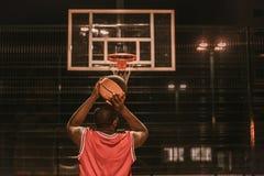 Баскетболист американца Афро Стоковая Фотография
