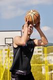 баскетболист Стоковые Фотографии RF