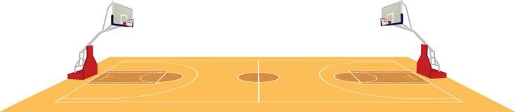 Баскетбольная площадка, взгляд со стороны Стоковые Изображения RF