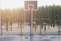Баскетбольная площадка улицы Стоковое фото RF
