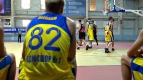 Баскетбольный матч турнира Alexey Shved Белгорода России 2017 сток-видео