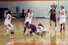 Баскетбол девушок NCAA стоковое фото
