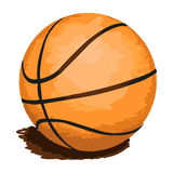 баскетбол шарика изолировал Стоковые Изображения RF