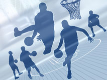 баскетбол 2 искусств Стоковая Фотография