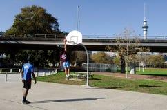 Баскетбол - воссоздание и спорт Стоковые Изображения RF