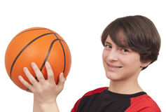 Баскетболист бросая баскетбол Стоковое фото RF