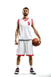 Баскетболист в действии стоковая фотография