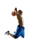 Баскетболист в действии стоковые фото