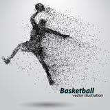 Баскетболист от частиц Стоковая Фотография RF
