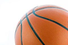 Баскетбол крупного плана или изолят шарика корзины Стоковые Фотографии RF