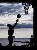 Баскетбол на пляже Стоковая Фотография RF
