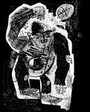 Баскетбол обезьяны Стоковые Изображения