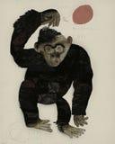 Баскетбол обезьяны Стоковая Фотография